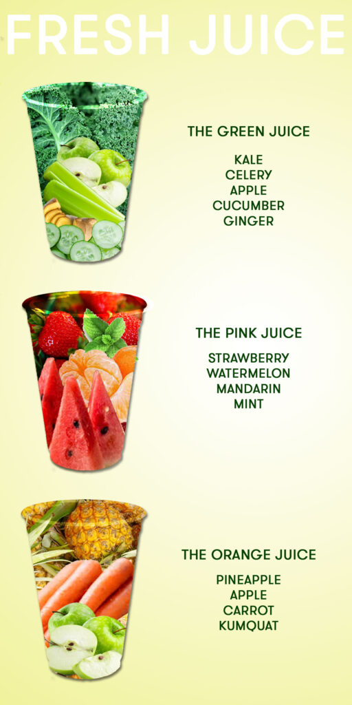 Manna Lane Juice Menu